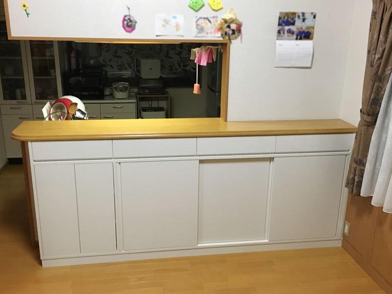 収納キッチンカウンター