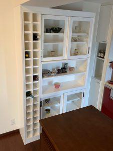 ワインセラー付き食器収納